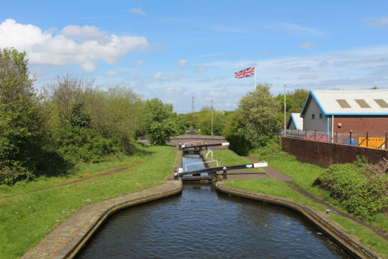 Brades Top Lock on the Gower Branch